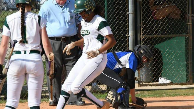 Karyana Mitchell of Viera scores during Wednesday's district tournament game against Sebastian River.