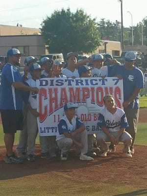 The Silver All-Stars in the 10-11 Boys Division won the District 7 crown over Copper. Members of the team include Abraham Martinez, Adan Jaquez, Cristian Saucedo, Edgar Melendez, Gavin Aguirre, Izaiah Olivas, Julian Richard, Landon Sandoval, Vicente Medina, Vincent Ortega, and Zeke Torres. The manager is Oscar Torres, while the coaches were Sam Medina and Thaxter Richard.