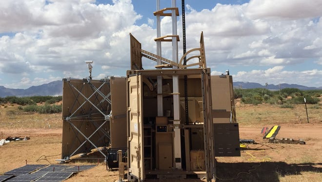 A containerized weapon system, equipped with a 50 caliber machine gun, was one of the systems being tested at the NIE last fall.