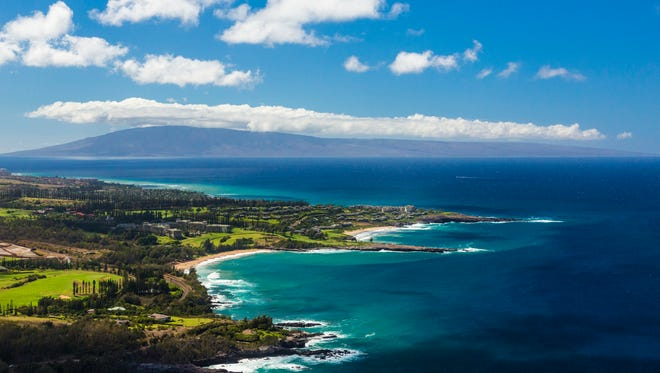 This undated photo provided by the Hawaii Tourism Authority shows a view of the Kapalua coastline in Maui, Hawaii.