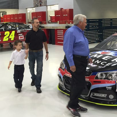 NASCAR team owner Rick Hendrick gives Rick Groesbeck