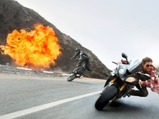"Still of Tom Cruise in ""Mission: Impossible - Rogue Nation."""