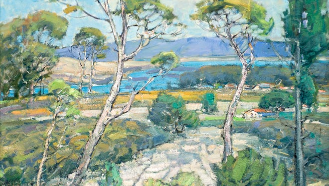 """""""Morro Bay Lagoon"""" by Karl Dempwolf is one of the works on display at the """"In Praise of Nature"""" exhibit at Distinctive Art Gallery in Santa Barbara through Oct. 1."""
