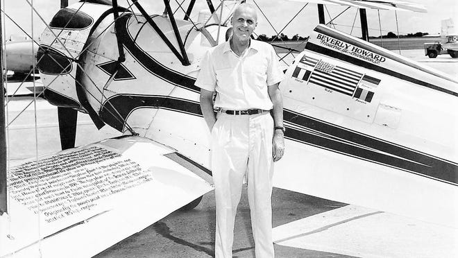 """Beverly """"Bevo"""" Howard, grew up in Augusta and became one of the first great stunt pilots."""