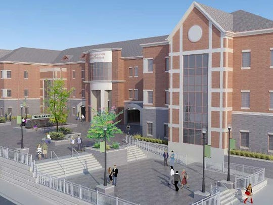 Rendering of the Center for Access and Student Success (CASS) under construction at Florida A&M University.