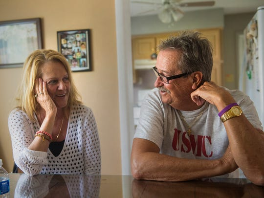 Lisa and Ed Kiick reminisce on Sept. 3, 2015 about the early days of their relationship. Ed Kiick says he can't reconcile her youth with the disease, that when he looks at her, she is still the beautiful woman he married. Kiick said her symptoms also are not consistently present. She can be okay for long stretches and then have a lapse.