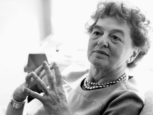 P.L. Travers, who wrote the Mary Poppins books.  (AP Photo/Simon & Schuster)