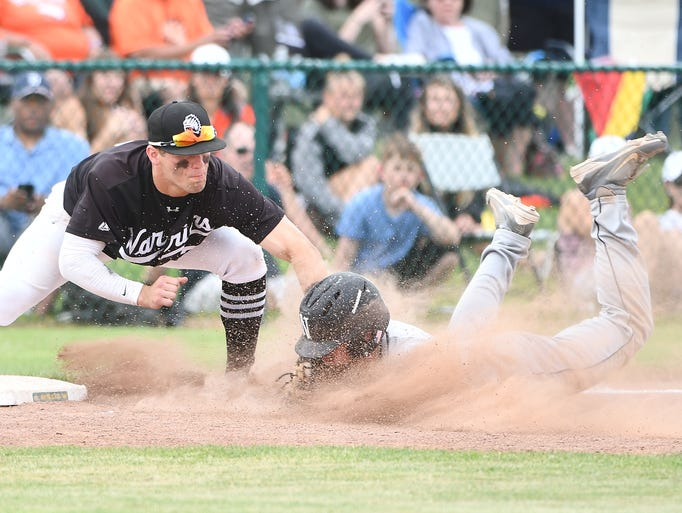 Birmingham Brother Rice's Blaise Wilcenski tags out