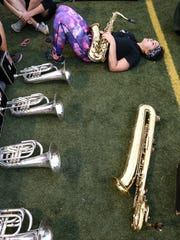 Walled Lake Central High marching band member Tehya