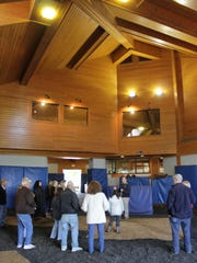 """The breeding shed at Coolmore America. """"Shed"""" is a"""
