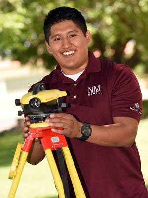 New Mexico State University student Matt Kallestewa is earning his degree in surveying engineering and he will be able to take advantage of the new curriculum for the geomatics program.