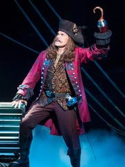 "John Davidson as Captain James Hook in ""Finding Neverland."""