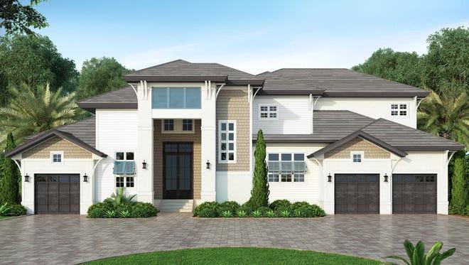 Divco Custom Homes' new Caxambas model at 446 Kendall Drive on Marco Island.