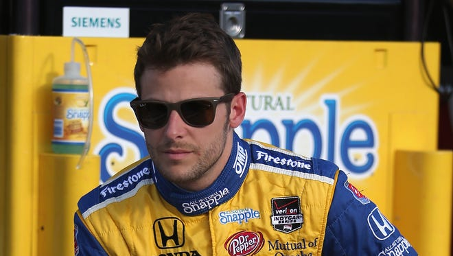 Marco Andretti finished eighth in Race 1 of the Grand Prix of Houston Saturday, despite an early spin that from contact with teammate Carlos Munoz.