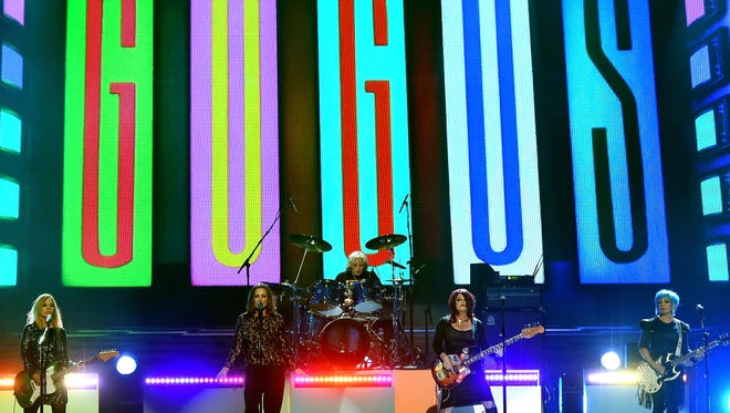 Charlotte Caffey, Belinda Carlisle, Gina Schock, Paula Jean Brown and Jane Wiedlin of the Go-Go's perform onstage during the 2016 Billboard Music Awards.