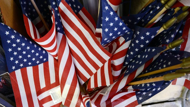 Travis Hardware in Florida sells American flags from several U.S. vendors.  The flags themselves are also made in the USA.