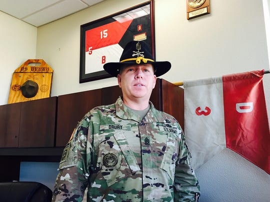Command Sgt. Maj. Kenneth Drury is the new senior enlisted leader for the 1st Squadron, 1st U.S. Cavalry Regiment.