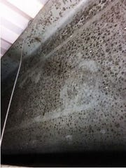 Mold was found in locations throughout Holly Glen Elementary School in Monroe Township, including this area above a drop ceiling.