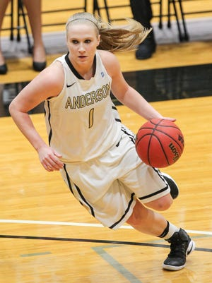 Anderson University senior guard and Walhalla native Heather Jankowy leads the Trojans with 10.9 points a game.
