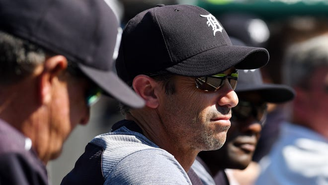 """When asked if he wanted to manage in 2018, Tigers manager Brad Ausmus said, """"I'm not getting into it."""""""