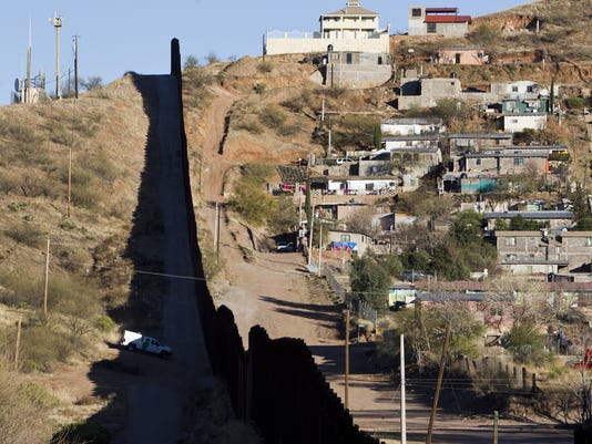 Border fence between the U.S. and Mexico