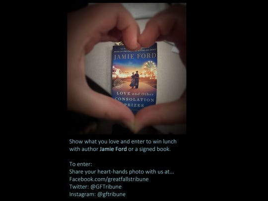 Show what you love and enter to win lunch  with author Jamie Ford or a signed book. To enter: Share your heart-hands photo with us at: Facebook.com/greatfallstribune Twitter: @GFTribune Instagram: @gftribune