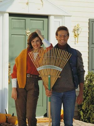 Couple with rake