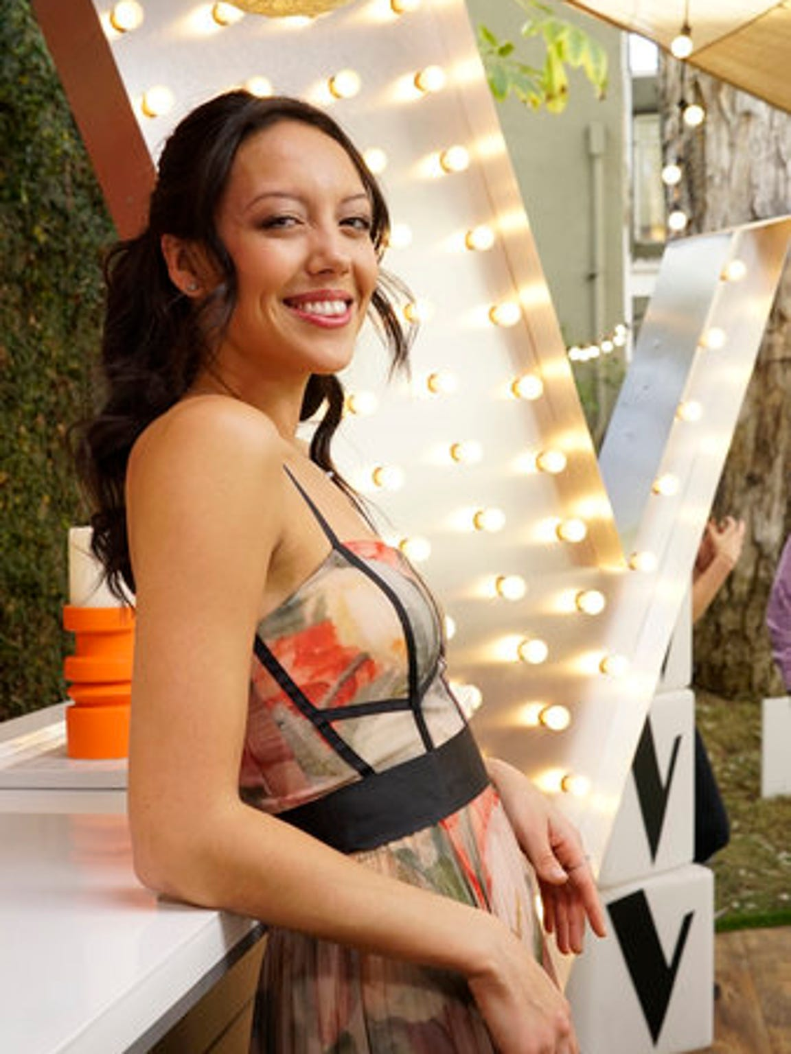 "Amy Vachal of Somerset takes a moment to relax backstage at ""The Voice"" semifinals."