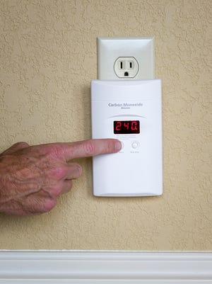 Stock image of a carbon monoxide alarm.