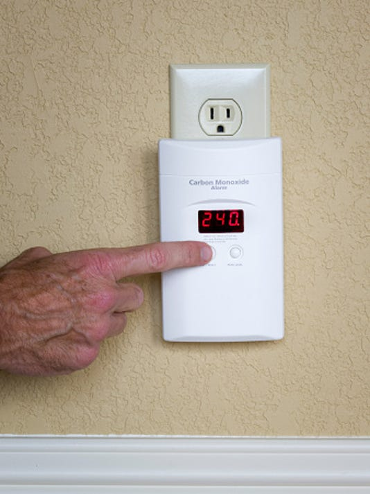 Carbon monoxide alarm Stock Image