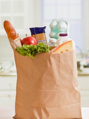 A bag of groceries.
