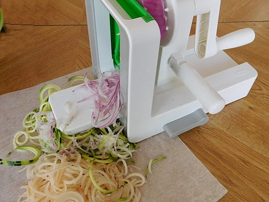 The OXO Spiralizer is ideal for preparing  vegetables