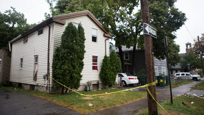 The house where a shooting broke out during a house party on Woodward St. leaving two dead and four injured on Saturday, September 12, 2015.