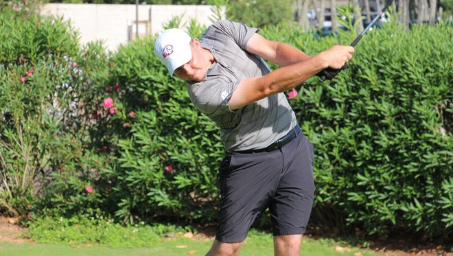 Dixie State sophomore Nicklaus Britt was named to the All-PacWest first team after posting three top-five finishes and a record-setting effort at the PacWest Championships last month when he broke DSU's 18 (63), 36 (134) and 54-hole (202) scoring records en route to a runner-up individual finish.
