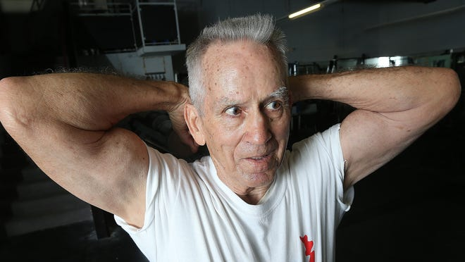 Palmer Walker, 81, is a power lifter who has managed to stay in shape to compete in senior tournaments. He was working out in the Legacy Gym on Thursday with 245 pounds of weight.
