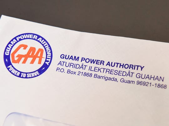 An envelope containing a utility statement from Guam Power Authority.
