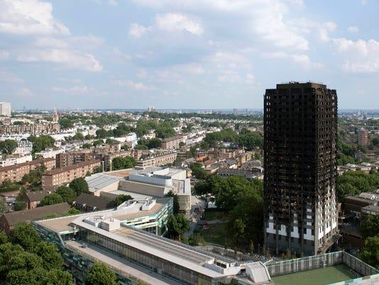 EPA BRITAIN TOWER BLOCK FIRE AFTERMATH DIS FIRE GBR