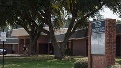 Dozier Elementary School building on Monday, Feb. 19,