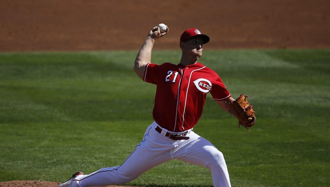 Reds right-hander Michael Lorenzen retired all six batters he faced in Friday's 4-3 loss to the Giants.