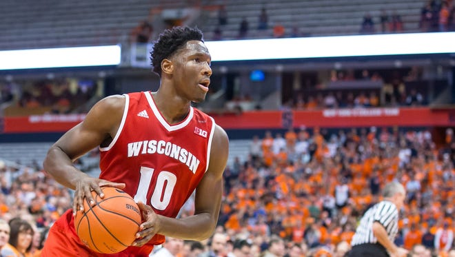 Nigel Hayes will be a senior for the Badgers in 2016-'17.