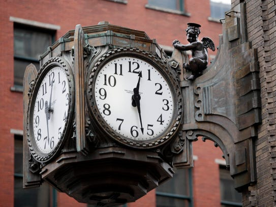The Ayres clock was designed by Kurt Vonnegut Sr. and