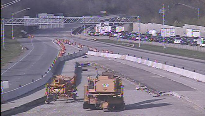 This is the backup caused by a crash on Northbound Interstate 71 near Fields Ertel Road.