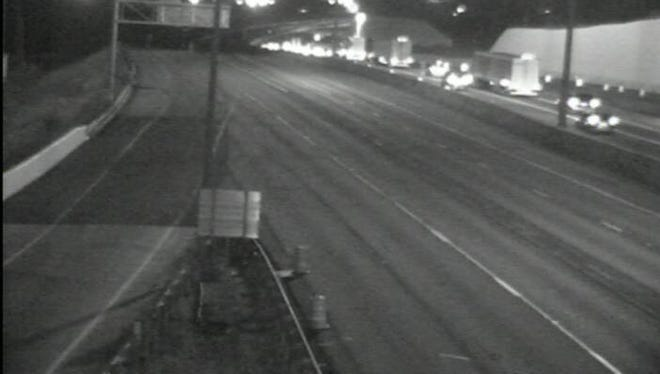 A view of southbound I-75 at Mitchell Ave after an accident caused it to be closed early Saturday morning. The highway has since reopened.