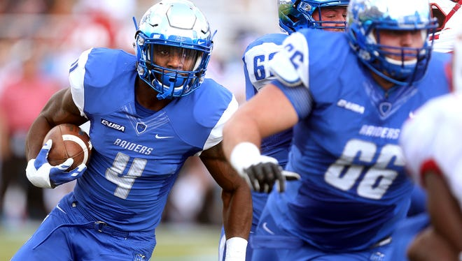 MTSU's I'Tavius Mathers (4) picked up third Conference USA Offensive Player of the Week award.