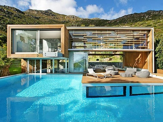 This three-bedroom in Cape Town, South Africa, sleeps