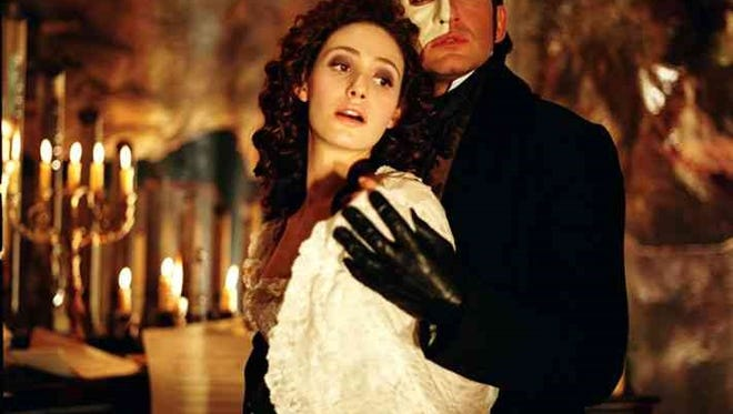 """The 2004 version of """"Phantom of the Opera,"""" starring Gerard Butler and Emily Rossum, shows three times this weekend at the Paramount Theatre."""
