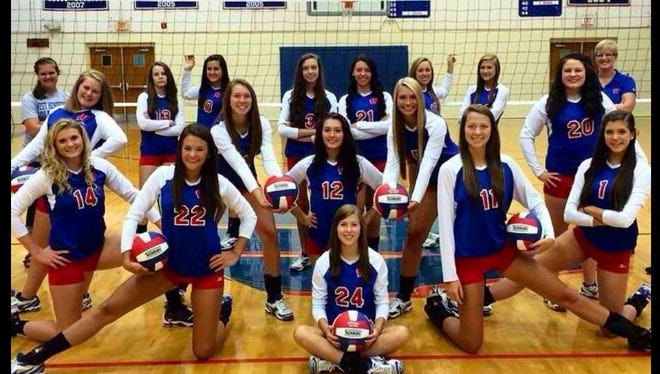 West Henderson junior Isabella Perron (24) has committed to play college volleyball for Queens.