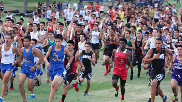 Hundreds of runners competed in Friday's Coaching Legends 5K at Horizon Golf Course.