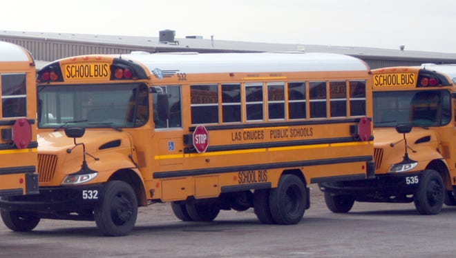 STS-NM school buses will cover an estimated 1.5 million miles during the school year.