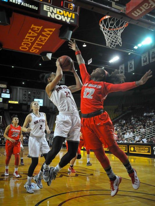 Womens Basketball - Aggies versus Lobos